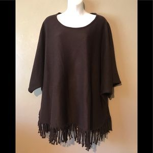 NY Collection size 3X brown sweater top Acrylic
